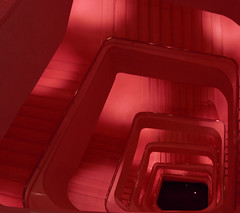 The path to hell (Flacrem) Tags: madrid light red stairs path hell caixa devil caixaforum flacrem flaviocrem
