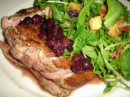 Duck with Blueberries