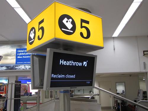 Heathrow baggage reclaim