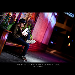 Day One Hundred Seventy Three (Dustin Diaz) Tags: sanfrancisco portrait selfportrait me valencia umbrella bench reading nikon shoes nike read 365 missiondistrict monday gels d3 cslewis twolights featured pocketwizard dustindiaz strobist sb900 dedfolio