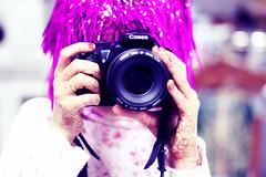 (FatoOoma Qatar ~) Tags: life camera pink hot girl canon photography photo hands focus flickr day photographer purple image random bokeh picture l p fav 2009 fatma doha qatar flickcom 400d 7na fatoooma