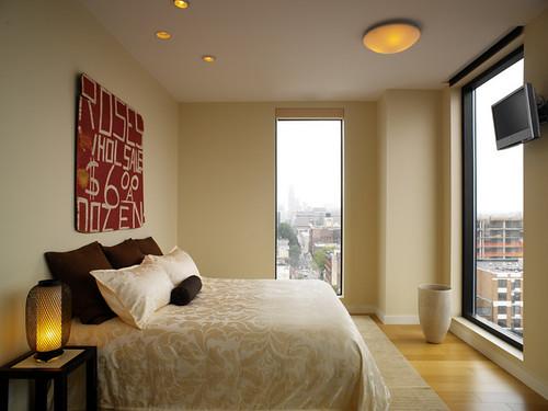 wallpaper interior decorating. Brown-master-bedroom-wallpaper