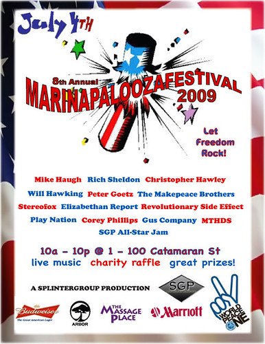 8th annual MARINAPALOOZAFESTIVAL!