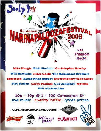 8th annual MARINAPALOOZAFESTIVAL!