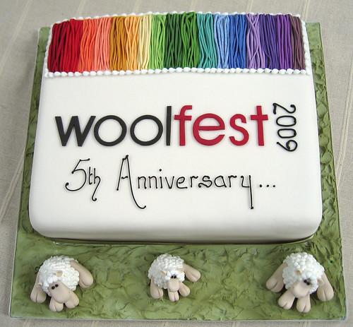 Woolfest 5th anniversary cake