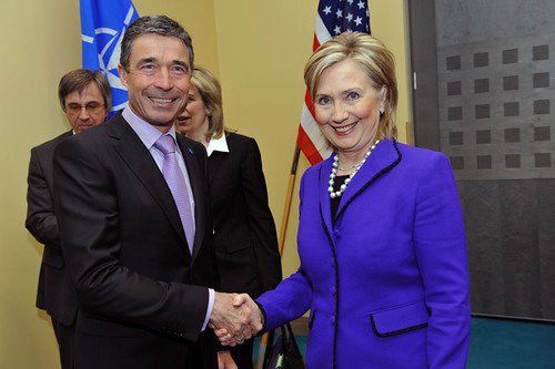 From flickr.com: NATO Secretary General Rasmussen With Secretary Clinton {MID-71339}