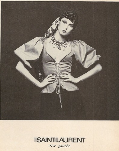YSL peasant blouse