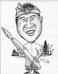 My caricature by caricaturist Agus Budi Santoso