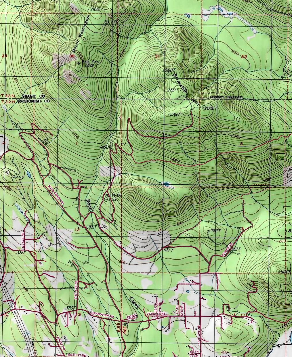 TOPO OF THE ROUTE TO STIMSON