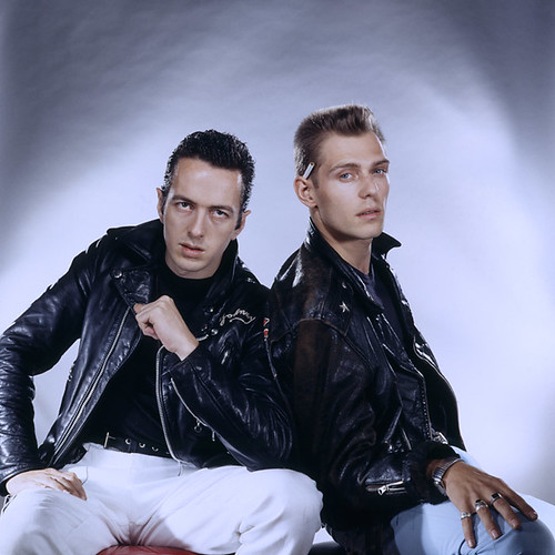 the clash - joe strummer & paul simonon