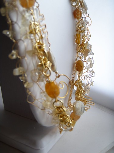 gold mermaid necklace - detail