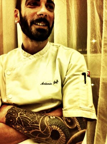 Lo chef Antonio Bufi. Uno chef che porta con se il profumo di una giornata di maestrale :)