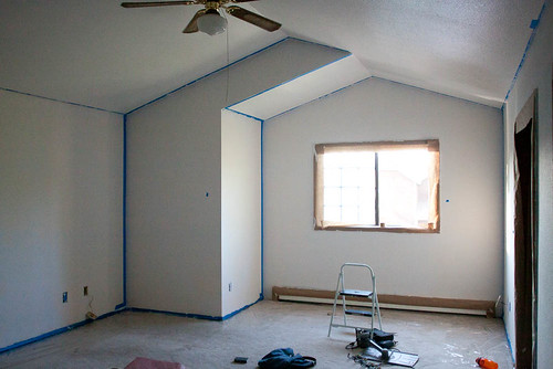 New house taped and primed