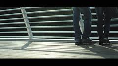 Approach (Porfidax) Tags: bridge light color guy girl foot nikon shoes couple bokeh leg sigma shy romantic approach shyness 70300 d5000 nikonclubit