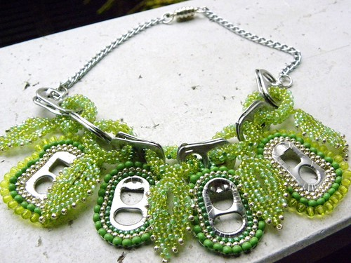 Green can Necklace