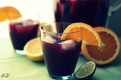 Sangria (sunmamma) Tags: birthday party orange lemon wine citrus lime sangria picnik imgonnabe32
