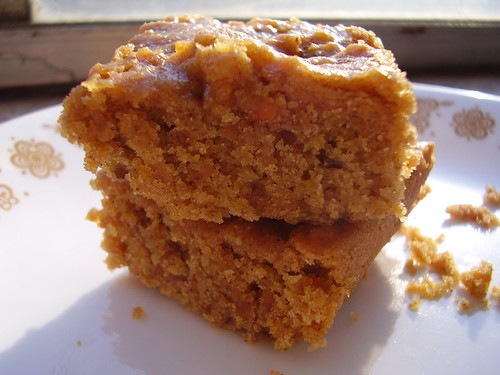 Spiced Sweet Potato Blondies