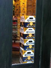 Door Stop (frankieleon) Tags: door light beer interestingness interesting san bestof texas drink oz fluid cc doorway corona drinks creativecommons shinerbock boxes bud antonio popular thirsty riverwalk frankieleon