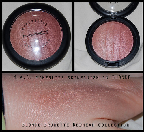 M.A.C. blonde brunette redhead collection