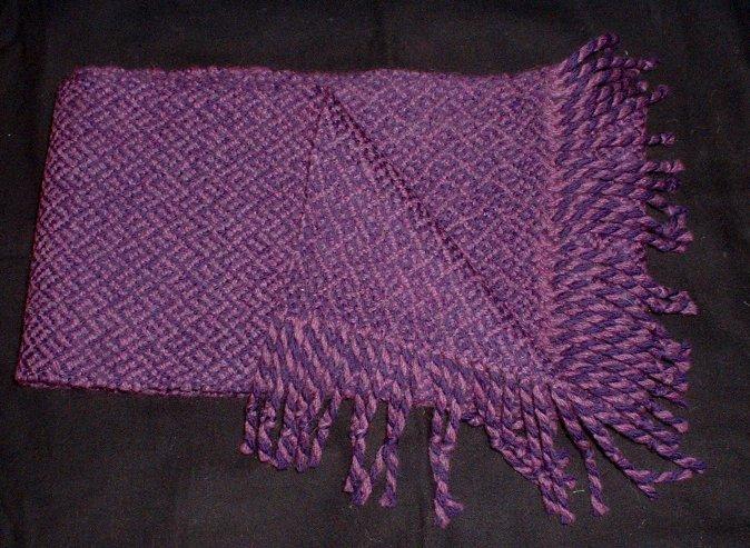 purple woven scarf