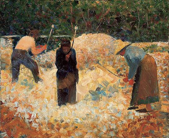 Georges Seurat, The Stone Breakers, le Raincy, 1882