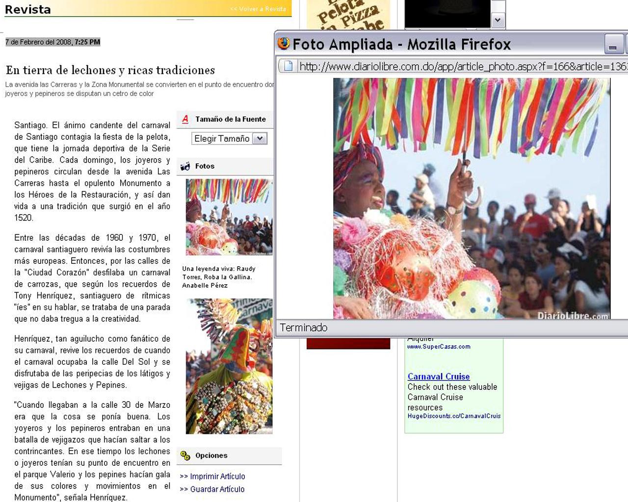 Diario libre-Revista:  web e impreso. Especial Feb 08