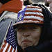 Sequin American Flag Hat During the Inauguration of Barak Obama