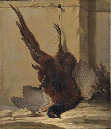 Jacques Charles Oudry, Faisan accroché à un mur, 18th ct