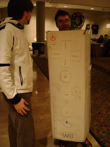 Brendan Dressed up as a Wiimote