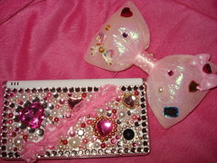 Pinky DSi! (Pinky Anela) Tags: pink game cute japanese heart nintendo ds ribbon gems bows rhinestones dsi