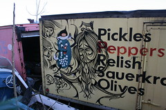 Pickles Peppers Relish Sauerkraut Olives (carnagenyc) Tags: nyc streetart newyork truck graffiti 27 deuce7