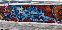 AROE MSK. FROZEN EXPLOSION. (Heavy Artillery) Tags: snow graffiti brighton letter artillery msk ha seventh heavy 7th aroe