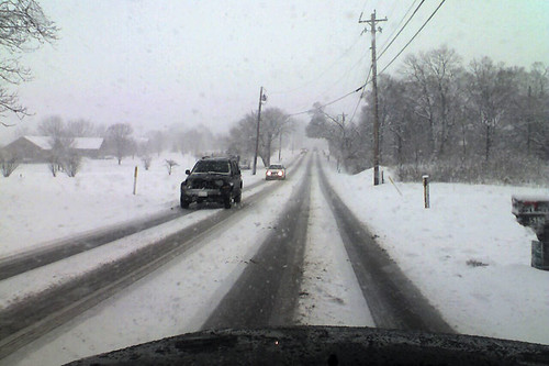 SW OH snowy and slick roads