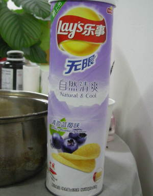 Blueberry Potato Chips, China