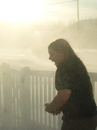 snowblower dust