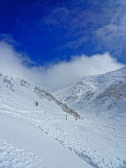 A Good Morning (/\ltus) Tags: lumix hokkaido powder panasonic snowboard backcountry niseko annupuri nothdr secondbowl 200902 dmcf35