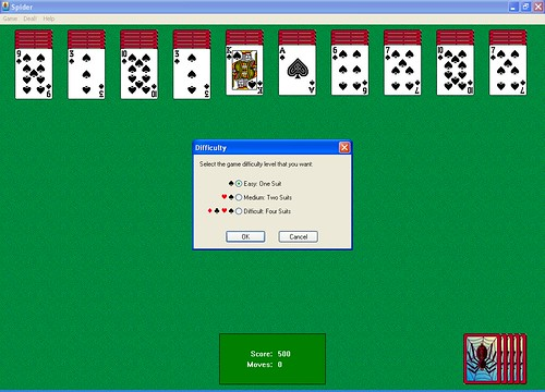 computer spider solitaire