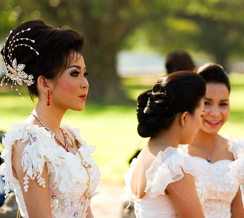 Cambodian bridesmaid