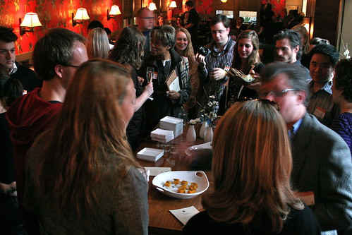 Crowded Noshing and Networking
