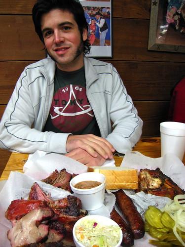 Logan (Husbear) with meats