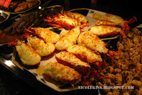 cheese grilled lobsters