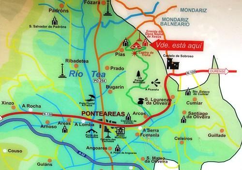 Mapa castro de Troña