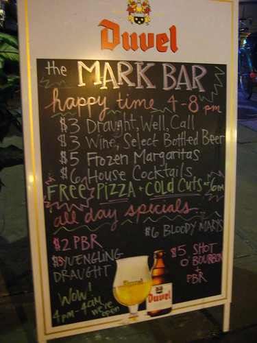 The Mark Bar's Specials