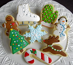 2008 Christmas Cookie Selection (Sugar Envy) Tags: snowflake christmas xmas tree ice cookies cane reindeer snowman candy sugar skate iced envy custom favors mitten gingerbreadman decorated sugarenvycookies sugarenvy