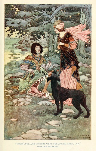003-Charles Folkard- British fairy and folk tales -1920-La doncella del mar