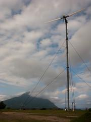 Sumhao Windmill with Mt. Iraya (Renz Ticsay) Tags: philippines batanes batan rorenz
