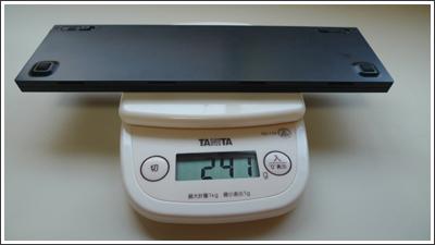 IdeaPad S10eのバッテリーパックの重さを比較