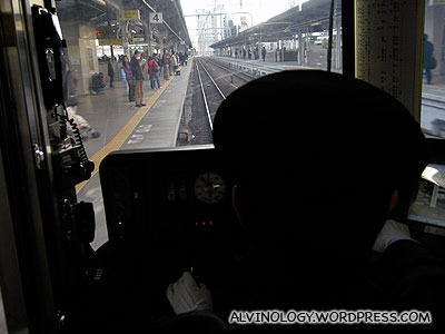 The train driver at work