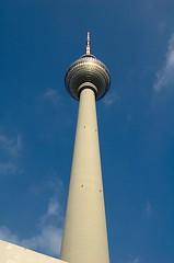 Fernsehturm 2 (chb1848) Tags: berlin fernsehturm blau perspektive