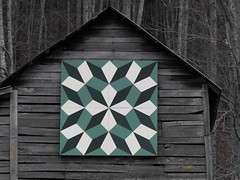 Turkey Tracks (americanquilttrail) Tags: quilt north barns carolina